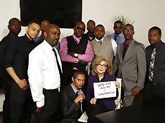 Nina Hartley Interracial Gangbang