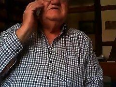 gandpa flash on webcam