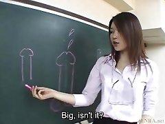 Subtitled Asian Akira Watase classroom fellatio lecture