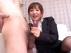 Mami Asakura office adventure with her chief