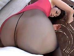 Maki Hojo Teasing And Fucking In Pantyhose Uncensored