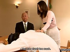 Japanese slut Yui cheating on her man in his home