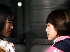Mika Kikuchi and Mayu Kawamoto Girl-on-girl Kiss