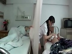 Japanese nurse enjoys sucking two part3