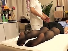 Cutie with wooly vagina visits her doctor and gets fingerblasted
