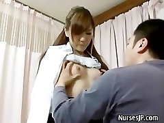 Patient visiting nymph asian doctor