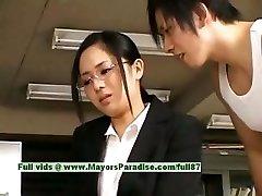 Sora Aoi innocent insatiable asian secretary enjoys getting nailed at break time