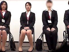 Incredible Japanese dame Minami Kashii, Sena Kojima, Riina Yoshimi in Hottest casting, office JAV scene