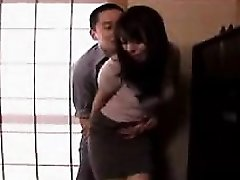 Lustful Asian housewife gets her tight holes fingered an