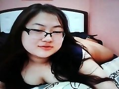 Adorable chubby asian teen on cam