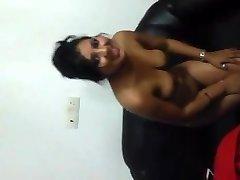 Indian Girl Showcasing titties