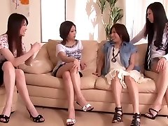 Japanese Penis Shared by Gang of Kinky Women 1