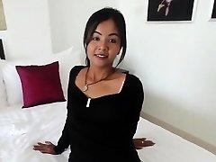 Petite Thai girl barebacked by monger