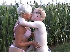 Strange Couple in a Cornfield