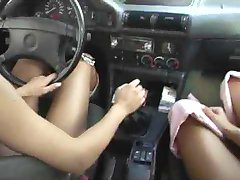 2 Ladies at McDonalds Parking Area by snahbrandy