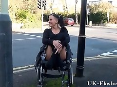 Paraprincess public nudity and handicapped pornographic star flashing
