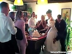 Wedding hoes are fucking in public