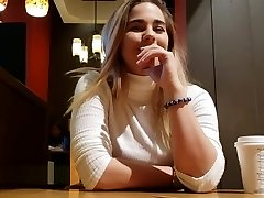 Toying With Lush in Public #3 Swallowing Cum in Switch Room!! xxx