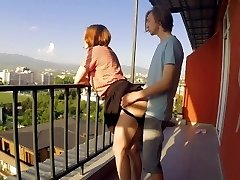 PUBLIC Lovemaking ON BALCONY. NEIGHBORS WERE DELIGHTED