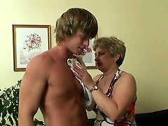 Stranger fucks 60 years aged granny on the couch