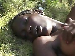 Hairy Skinny African Teen on BWC
