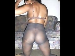 Ebony Legs in Pantyhose