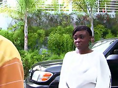 Two ebony babes share a BBC