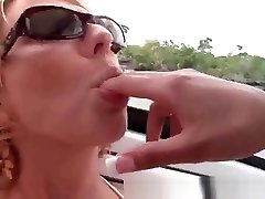 Three lesbians eating each other's pussies on a boat