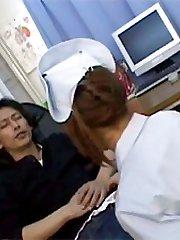 Japanese nurse jerks boner