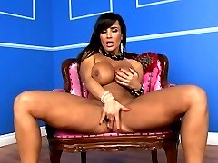 Seductive Lisa Ann exposes her huge round tits