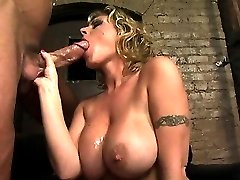 she gets her wet pussy routed by a huge cock