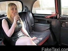 FakeTaxi - Busty blonde bombshell creampie