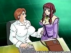 Anime lesbians with big tits fucked by fat