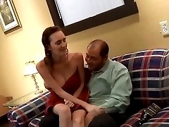 Busty redhead Dee Dee fucked after shower