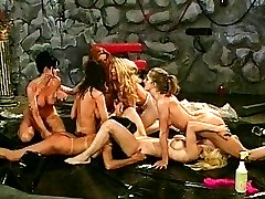 Naked lesbian pussy orgy on the floor