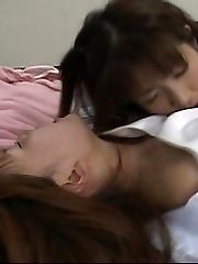 Japanese teens sucking pussy on a 69 position.
