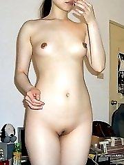 Naughty Asian babes posing naked