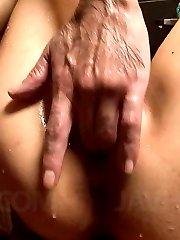 Yuki Asami Asian goes wild with fingers fucking her cum dumpster