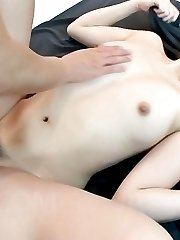 Hatsuka Kobayashi Asian has pink crack fingered and sucks shlong