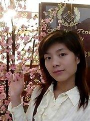 Kinky Korean honey teasing by stripping naked
