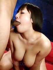 Azusa Nagasawa Asian is heavily pumped and rubs her clitoris