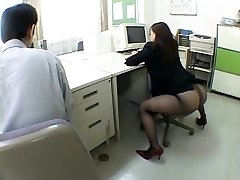 Japanese office lady drives me horny by airliner1