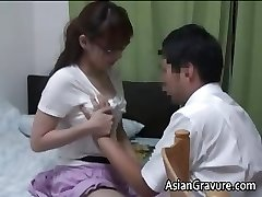 Sexy asian with big udders home teacher part1