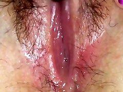 Moist pussy fluid solo
