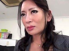 Hottest Japanese girl Rei Kitajima in Insatiable stockings, blowjob JAV clamp