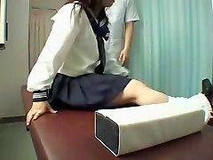 Perfect Jap slut enjoys a kinky massage in voyeur video