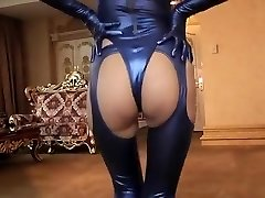 Horny amateur Latex, Fetish gonzo scene