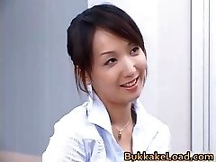 Mind-blowing real japanese Shiho getting jizz part3