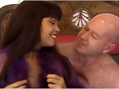 Promiscuous asian COUGAR Mimi fucks an ugly old bald guy