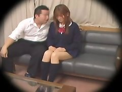 Ugly Jap teen gets banged in spy cam Japanese orgy video